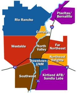 Map of Albuquerque Real Estate